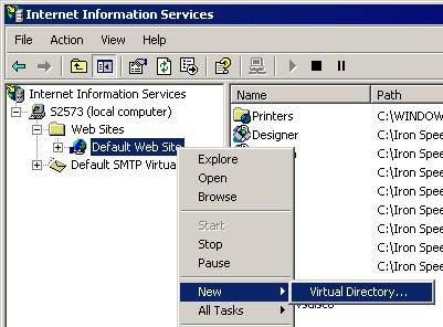 How to Create a Virtual Directory for Windows 2000, XP and Windows 2003
