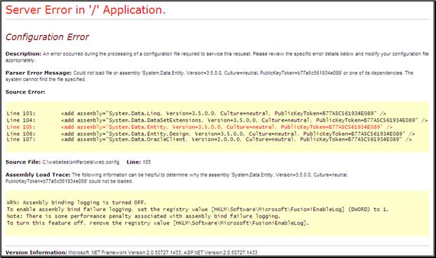 Iron Speed Designer Help - Parser Error: Could not load file